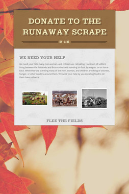 Donate to The Runaway Scrape