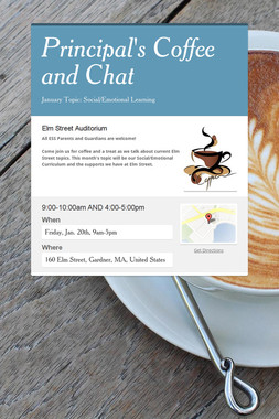 Principal's Coffee and Chat