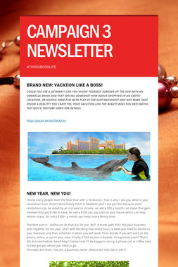 CAMPAIGN 3 NEWSLETTER