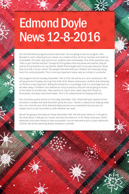 Edmond Doyle News  12-8-2016