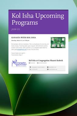 Kol Isha Upcoming Programs