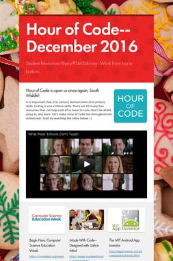 Hour of Code--December 2016