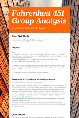 Fahrenheit 451 Group Analysis