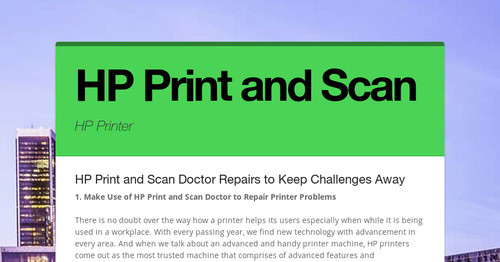 HP Print and Scan | Smore Newsletters