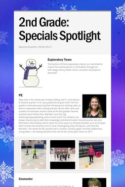 2nd Grade:       Specials Spotlight