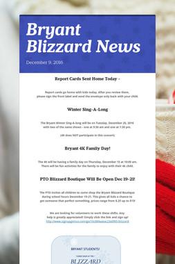 Bryant Blizzard News
