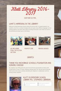 Klatt Library 2016-2017