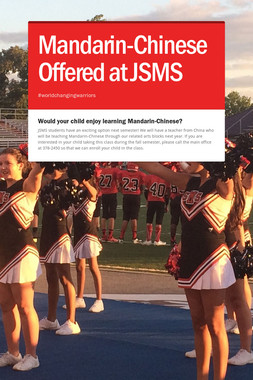 Mandarin-Chinese Offered at JSMS