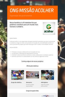 ONG MISSÃO ACOLHER