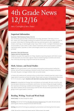 4th Grade News 12/12/16