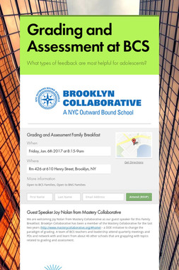 Grading and Assessment at BCS