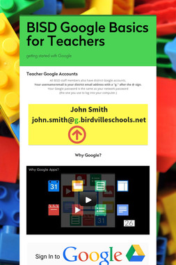 BISD Google Basics for Teachers