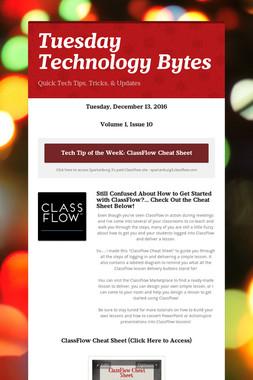 Tuesday Technology Bytes