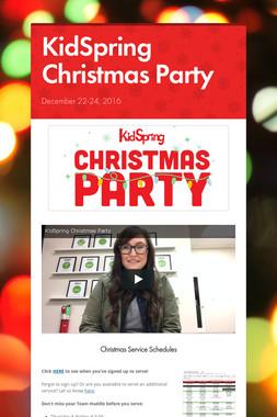 KidSpring Christmas Party