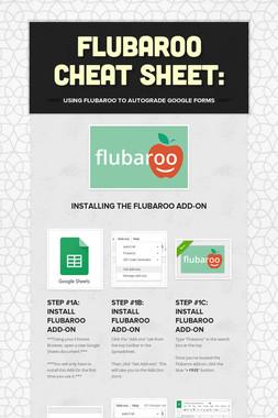 Flubaroo Cheat Sheet: