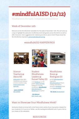 #mindfulAISD (12/12)
