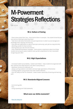 M-Powerment Strategies Reflections