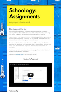Schoology: Assignments