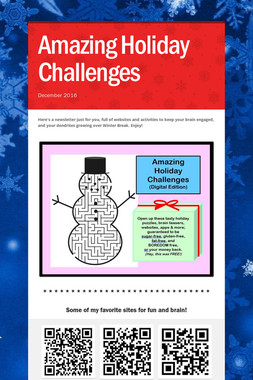 Amazing Holiday Challenges