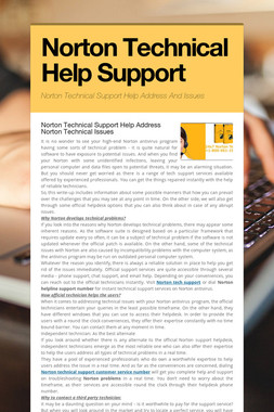 Norton Technical Help Support