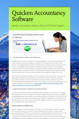Quicken Accountancy Software