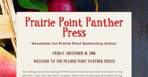 Prairie Point Panther Press Smore Newsletters For Education