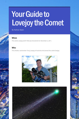 Your Guide to Lovejoy the Comet