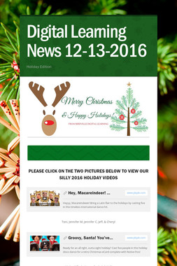 Digital Learning News 12-13-2016