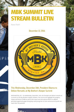 MBK SUMMIT LIVE STREAM BULLETIN