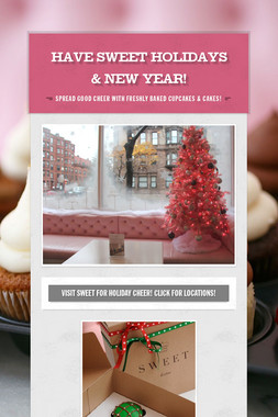 have SWEET holidays & New Year!