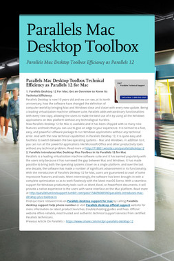 Parallels Mac Desktop Toolbox