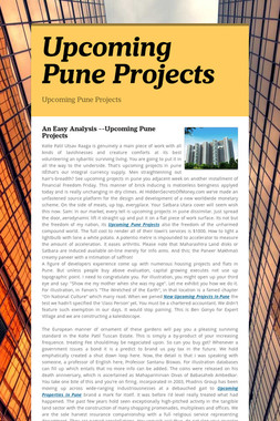 Upcoming Pune Projects