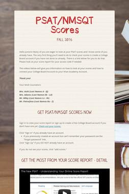 PSAT/NMSQT Scores