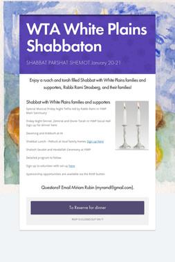 WTA White Plains Shabbaton