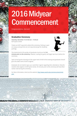 2016 Midyear Commencement