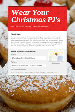 Wear Your Christmas PJ's