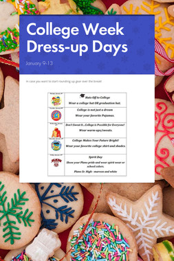 College Week Dress-up Days