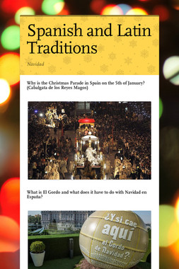 Spanish and Latin Traditions