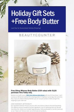 Holiday Gift Sets +Free Body Butter
