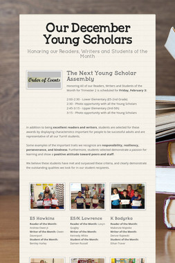 Our December Young Scholars