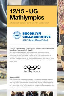12/15 - UG Mathlympics