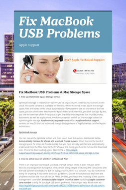 Fix MacBook USB Problems