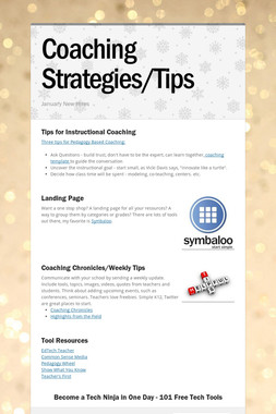 Coaching Strategies/Tips