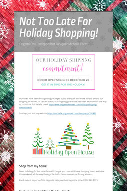 Not Too Late For Holiday Shopping!