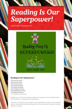 Reading Is Our Superpower!