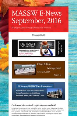 MASSW E-News September, 2016
