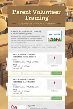 Parent Volunteer Training