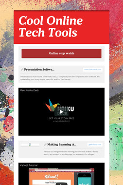 Cool Online Tech Tools