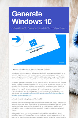 Generate Windows 10