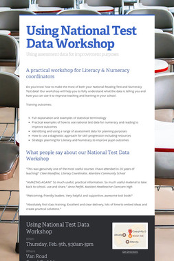 Using National Test Data Workshop